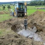 Výstavba vodojemu a odradonovací stanice